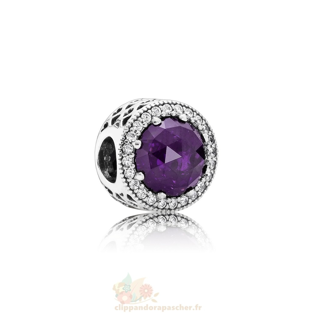 Discount Pandora Collection Coeurs De Radiant Royal Violet Crystal Clear Cz