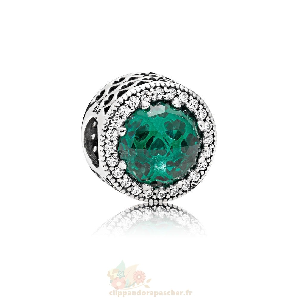 Discount Pandora Collection Coeurs De Radiant Sea Vert Cristaux Clear Cz