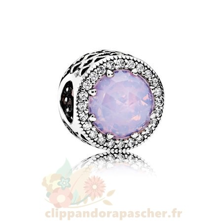 Discount Pandora Pandora Collection Coeurs De Pandora Radiant Coeurs Charme Opalescent Rose Crystal Clear Cz