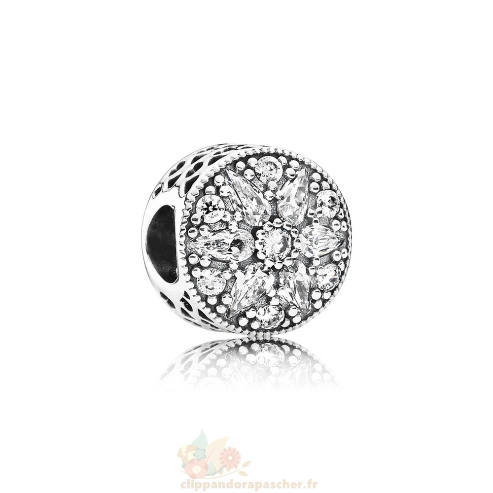 Discount Pandora Pandora Paillettes Paves Charms Radiant Bloom Charm Clear Cz