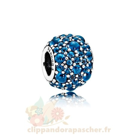 Discount Pandora Pandora Paillettes Paves Charms Shimmering Droplets Charm Londres Blue Crystal