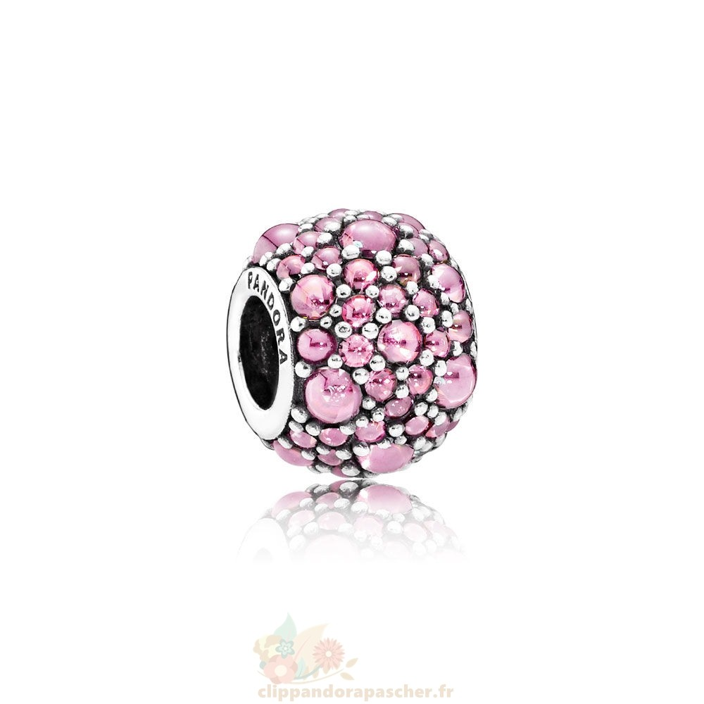 Discount Pandora Pandora Paillettes Paves Charms Shimmering Droplets Charm Rose Cz