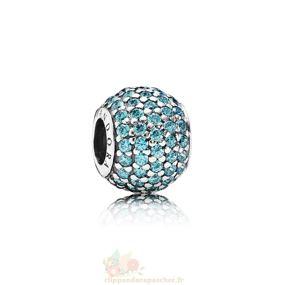 Discount Pandora Pandora Sparkling Paves Charms Pave Lumieres Charm Teal Cz