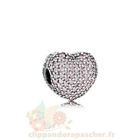 Discount Pandora Pandora Sparkling Paves Charms Pave Open Ma Heart Clip Rose Cz